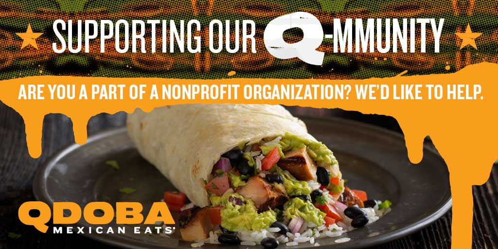 Raise Money For Your Charity - Qdoba Iowa Fundraising Submission Form