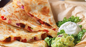 Qdoba Mexican Food Iowa - Quesadillas